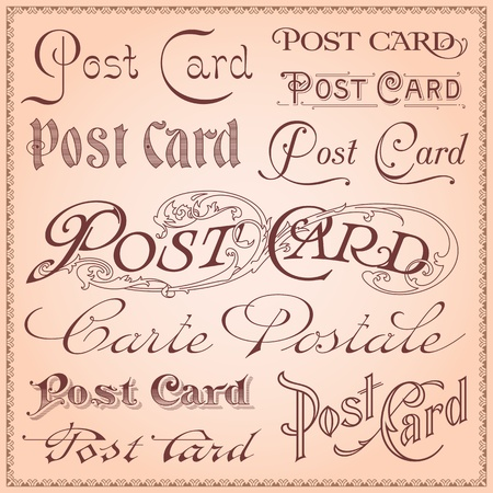 Vintage postcard lettering  Illustration