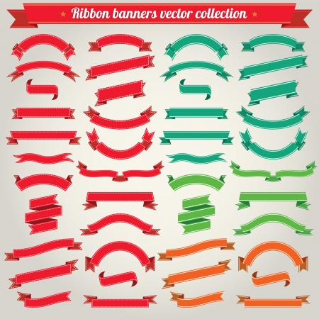 Ribbon Banners Collection 向量圖像