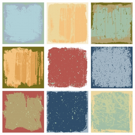 Set Of Grunge Textures place Background Vector