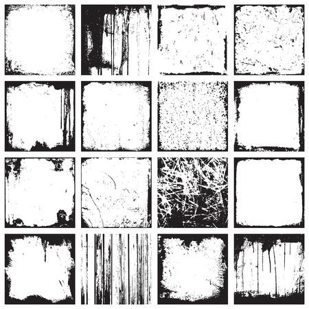 Set Van Grunge Plein achtergronden en kaders Vector