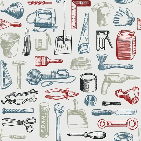 Tools Instruments Seamless Pattern