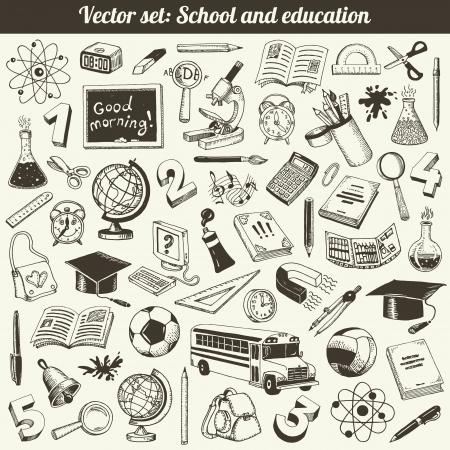 School en Onderwijs Doodles Collection