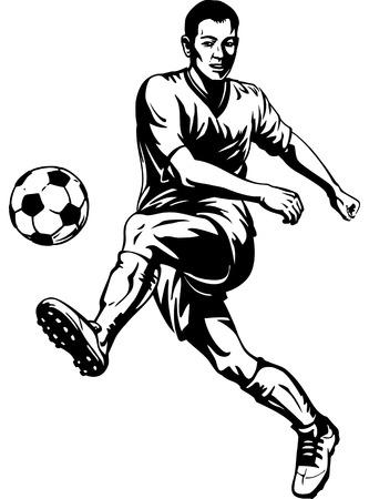 Soccer football player in motion  Vector illustration