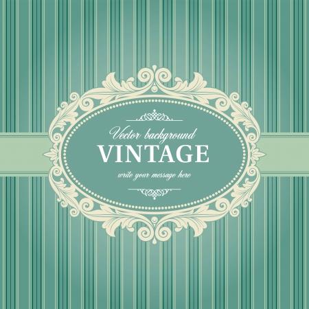 Vintage Background Frame Template Vector Illustration