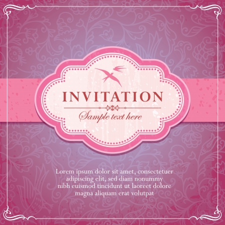 Vintage Background Frame Template Vector Illustration