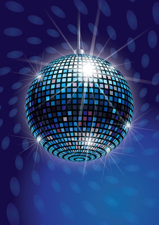 Mirror Disco Ball Vector Иллюстрация