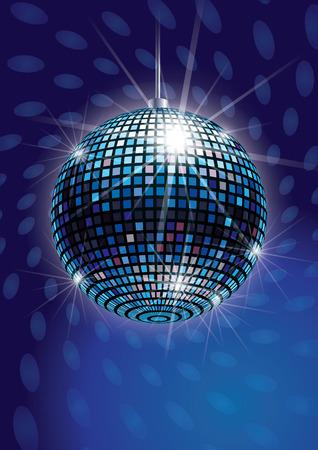 Mirror Disco Ball Vector Illustration