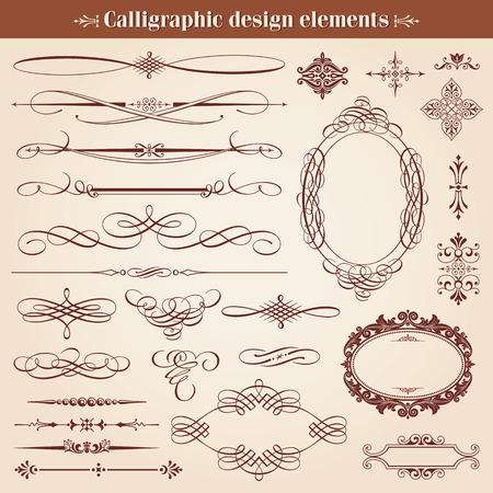Vintage kalligrafische ontwerpelementen en pagina decoratie Vector Stock Illustratie