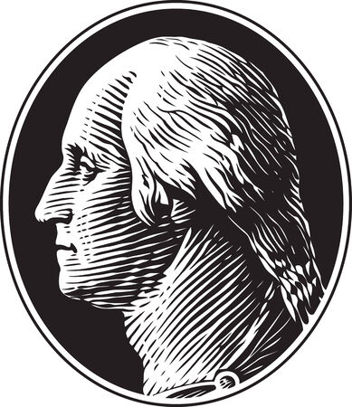 george washington: Retrato de George Washington Vintage Gravure Estilo