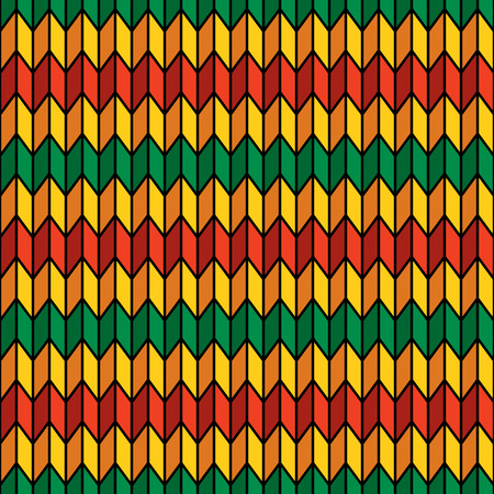 endless repeat structure: Background seamless pattern in rasta colors vector