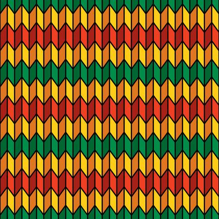 reggae: Fond seamless dans des couleurs de rasta vecteur Illustration