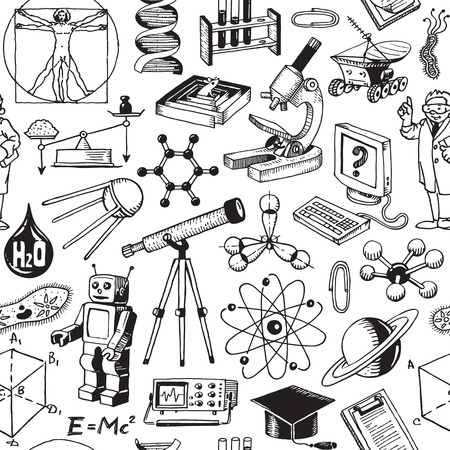 Science And Education Seamless Pattern Background Vector