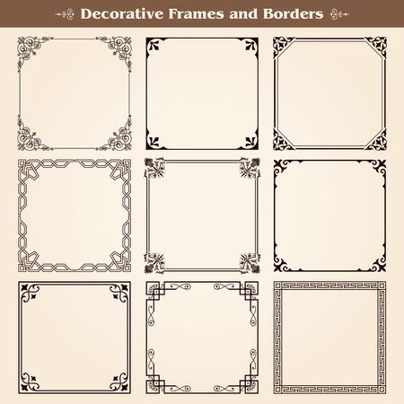 Dekorative Rahmen und Grenzen gesetzt Vektor