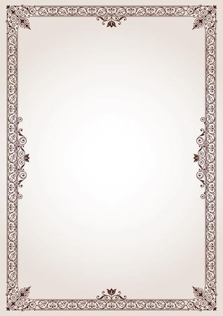 Decorative border frame background vector Illustration