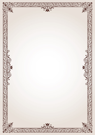 Decorative border frame background vector Ilustrace