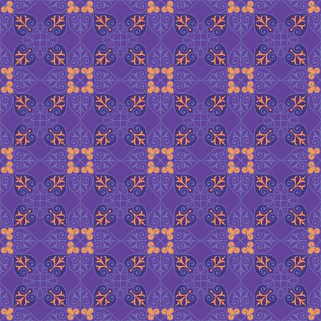 Decorative Seamless Floral Pattern Background