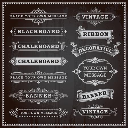pizarron: Elementos de diseño vintage