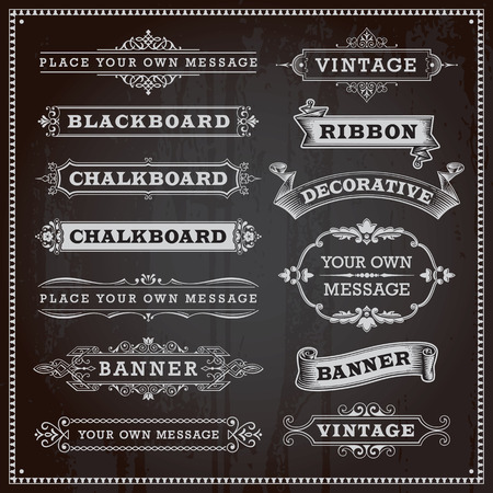 vintage scroll: Vintage design elements