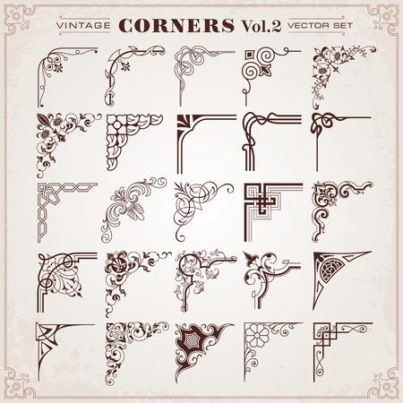 Vintage-Design-Elemente Vektor Corners Standard-Bild - 29475473