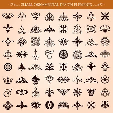 Set van kleine decoratieve design elementen en pagina decoratie vector