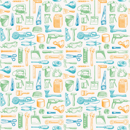 Outils Instruments seamless pattern 3 Vector Illustration