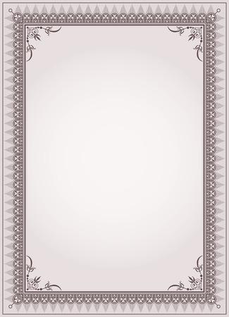 Decoratieve rand frame achtergrond certificaatsjabloon vector