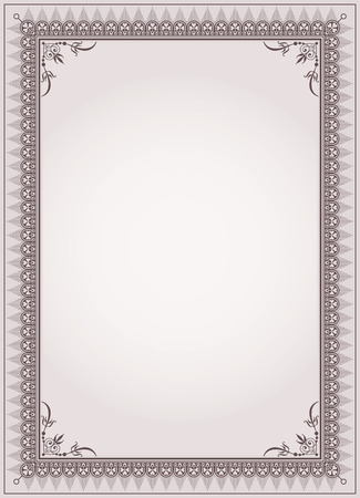 Decorative border frame background certificate template vector