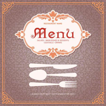 Restaurant Menu DEsign Vintage Style Template 1 Vector