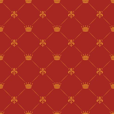 Crown royal lily heraldic seamless pattern