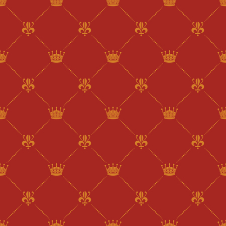 Crown Royal lily heraldische naadloos patroon Stock Illustratie