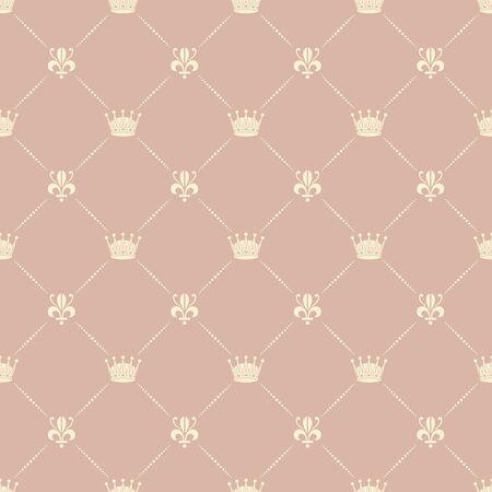 royal person: Crown royal lily heraldic seamless pattern