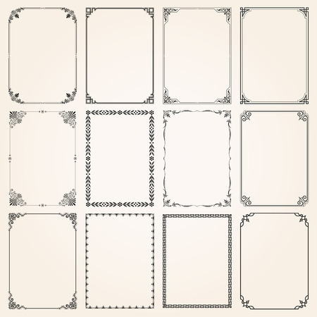 Decorative vintage frames borders.