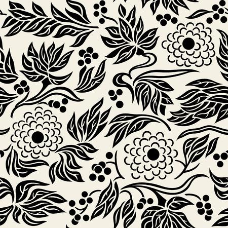 Seamless floral pattern background 3 illustration Ilustração