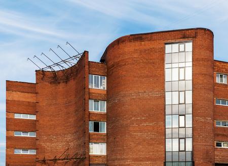 Fragment of soviet modernism era brutalism style building in Saint-Petersburg, Russia Фото со стока
