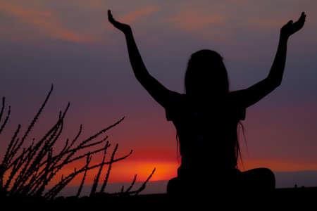 summoning: Sunset relaxation Stock Photo