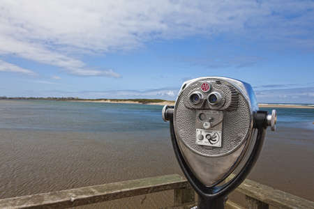 power operated: Public panorama viewer on oregon coast