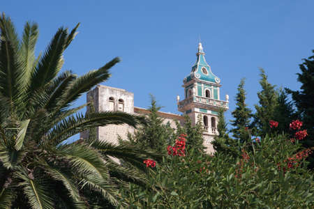 chopin: Monastery of Valldemosa, Mallorca, Spain - Once home to Chopin and George Sands Stock Photo