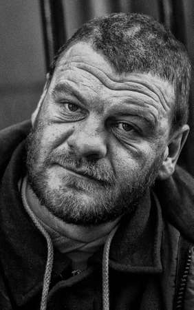 Homeless ex-soldier, London, England