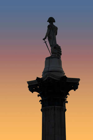 Nelsons Column at sunset photo