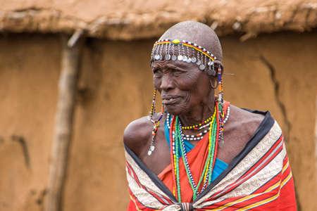 Ouderen Maaseja Vrouw Redactioneel