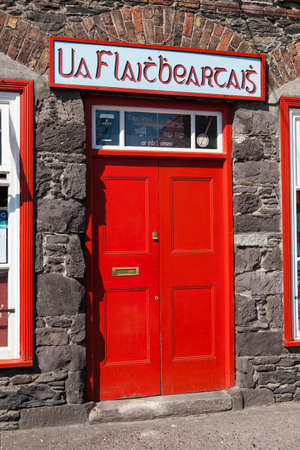gaelic: Gaelic Shop Sign, Dingle, Kerry, Ireland
