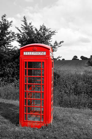 cell phone booth: Rural Tephone Box, Essex, England Stock Photo