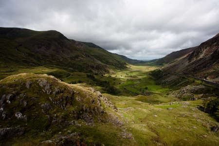nant: Nant Ffrancon valley, Snowdonia, Wales Stock Photo