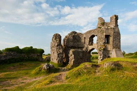 Pennard Castle, Gower, Wales Reklamní fotografie