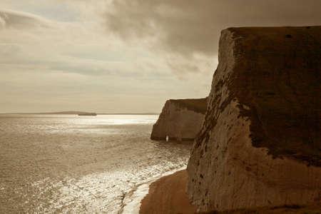dorset: Lulworth Cove, Dorset, England Stock Photo