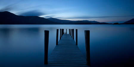 Jetty Derwent Water, Cumbria, Angleterre Banque d'images - 24921943