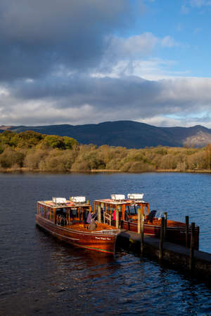 Ferry Boats on Derwent Water, Lake District, Cumbria, England