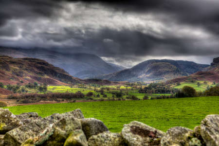 View from Castlerigg, Cumbria, England photo