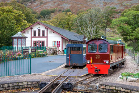 Train at Dalegarth Village Station Stock Photo - 24923209