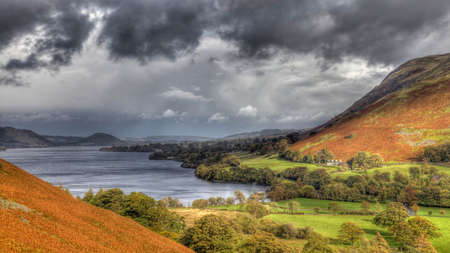 Overlooking Ullswater in the English Lakes Stock Photo - 24924979
